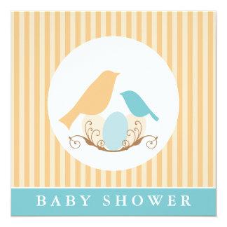 Birds Nest Gender Neutral Baby Shower Card