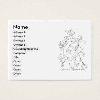 Bird's Nest Line Drawing Business Card