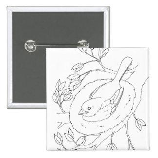 Bird's Nest Line Drawing Buttons