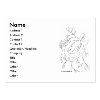 Bird's Nest Line Drawing Large Business Card