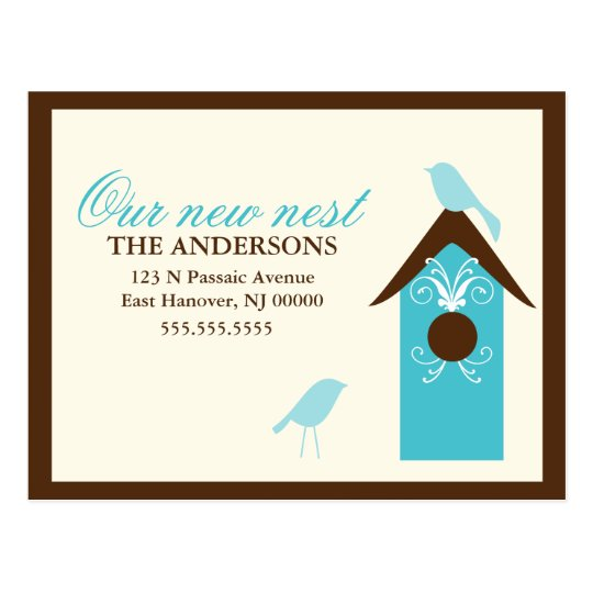 Birds Nest Moving Announcements Postcard