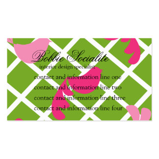 Birds Night Out in Appletini-Color Double-Sided Standard Business Cards (Pack Of 100)