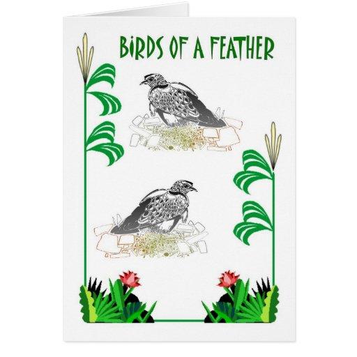 Birds of a Feather 23 Tarjeta De Felicitación