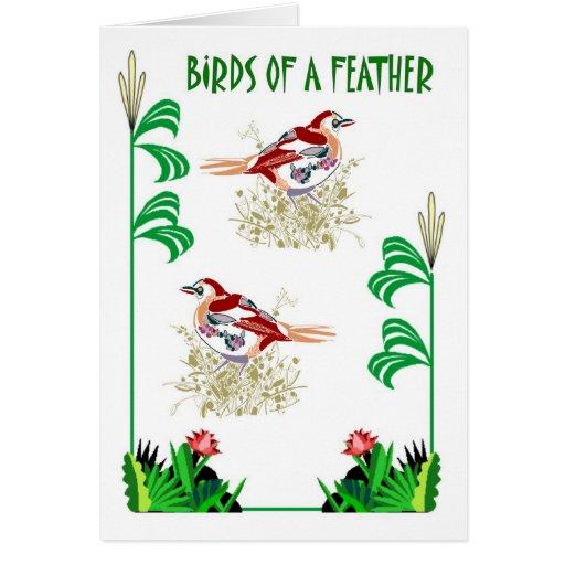 Birds of a Feather 7 Tarjeta De Felicitación