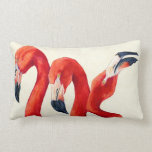 Birds Of A feather - Flamingo Pillow