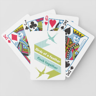 Birds of a Feather, Flock Together Bicycle Playing Cards