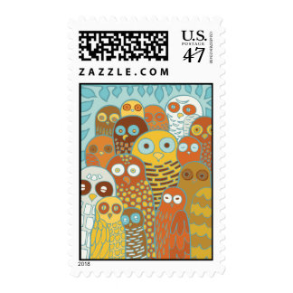 Birds of a feather flock together postage