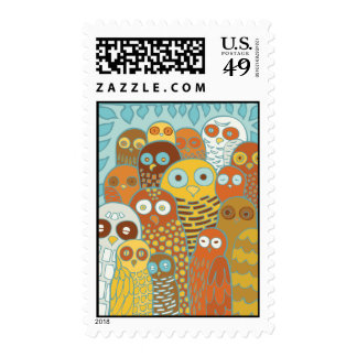 Birds of a feather flock together postage stamps