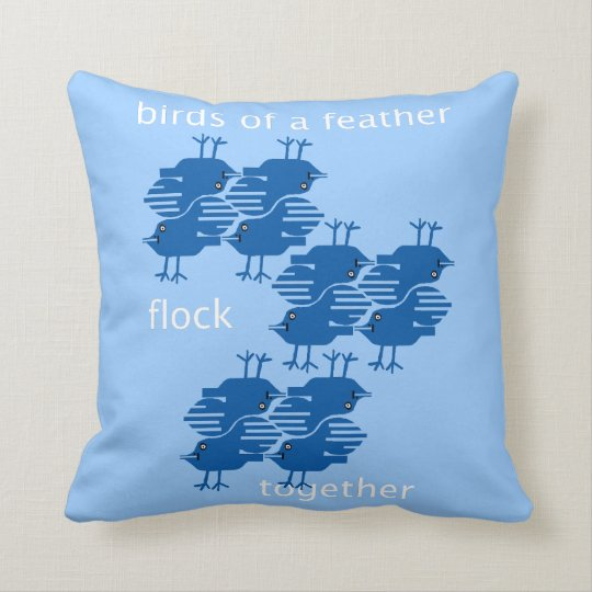 birds of a feather flock together throw pillow