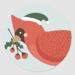 Birds of a Feather Holiday Stickers