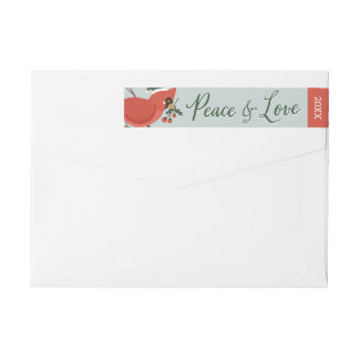 Birds of a Feather Holiday Wrap Around Label