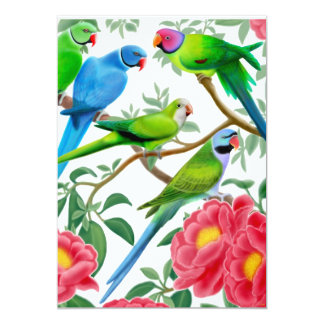 Birds of a Feather Parrot Party Invitation