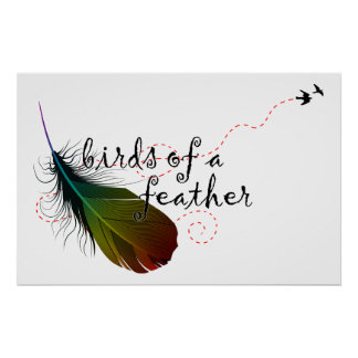 birds of a feather. print