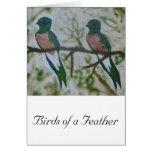 Birds of a Feather, vertical Felicitaciones