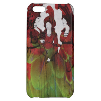 Birds of a feather - women in bird feathers iPhone 5C case