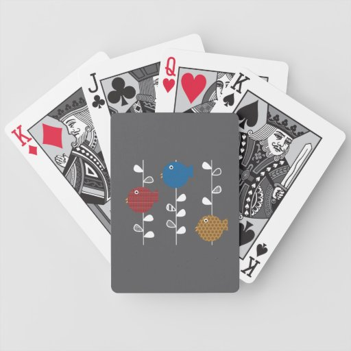 Birds of a Leaf Playing Cards