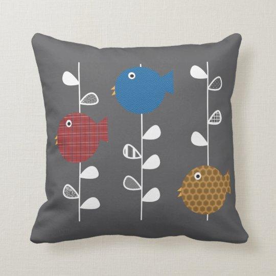 Birds of a Leaf Throw Pillow