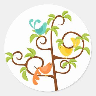 Birds of a Tree Classic Round Sticker