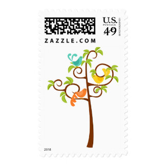 Birds of a Tree Postage Stamp