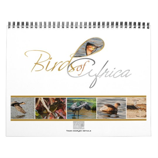Birds of Africa calendar gifts - Standard
