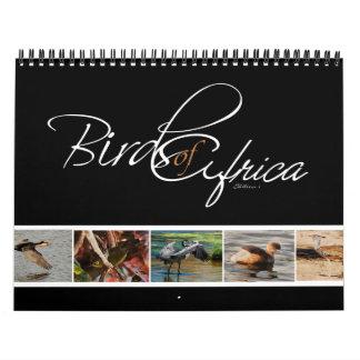 Birds of Africa gifts - Standard Calendar