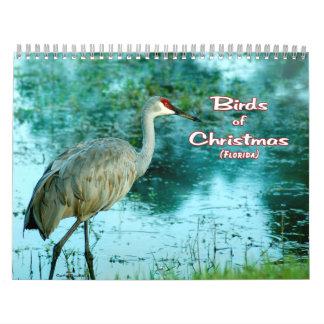 """""""Birds of Christmas Calendar"""" colored pages Calendar"""