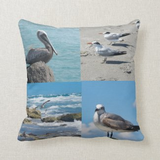Birds of Florida Throw Pillow