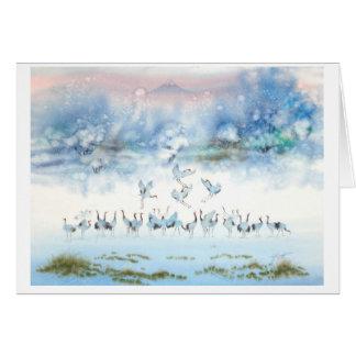 BIRDS OF HAPPINESS, JAPANESE CRANE CARD