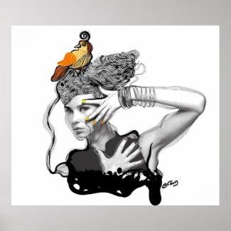 Birds of my mind print
