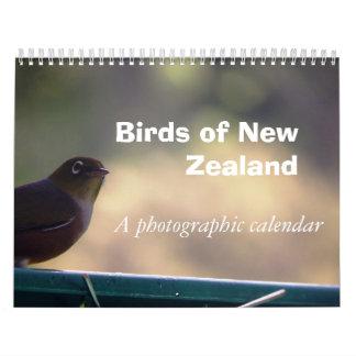 Birds of New Zealand Calendar