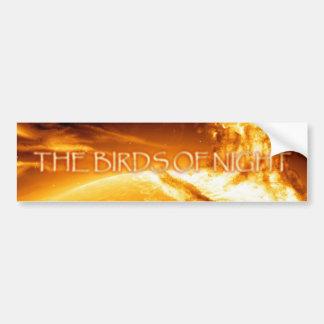 Birds of Night sunlight Car Bumper Sticker