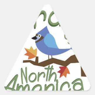 Birds Of North America Triangle Sticker