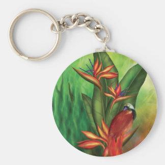 Birds Of Paradise Art Keychain
