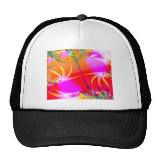 Birds of Paradise (B) Abstract Fractal Design Hat