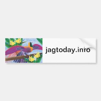 Birds of Paradise Bumper Sticker Car Bumper Sticker