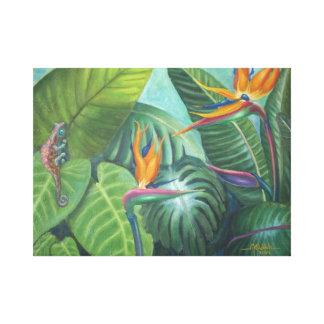 Birds of paradise canvas print