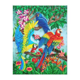 Birds of Paradise canvas Canvas Print