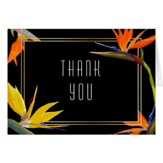 Birds of paradise Floral Thank You Card