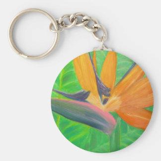 Birds of Paradise Flower Basic Round Button Keychain