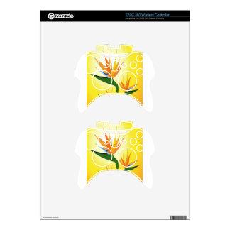 BIRDS OF PARADISE FLOWER DESIGN XBOX 360 CONTROLLER DECAL