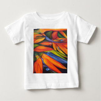 Birds Of Paradise Flower Painting Abstract Baby T-Shirt