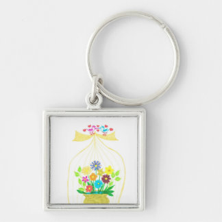 birds of paradise keychain