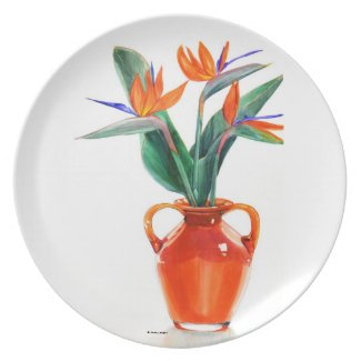 Birds          of Paradise Plate