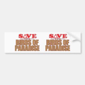 Birds Of Paradise Save Bumper Sticker