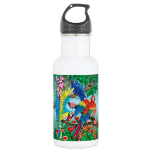 Birds of Paradise Stainless Steel Water Bottle