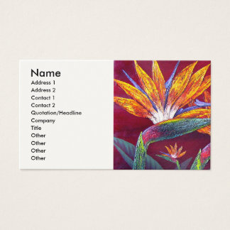 Birds Of Paradise Tropical Flower - Multi Business Card