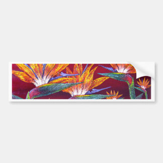 Birds Of Paradise Tropical Flower - Multi Car Bumper Sticker