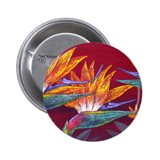 Birds Of Paradise Tropical Flower - Multi Pinback Button