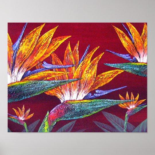 Birds Of Paradise Tropical Flower - Multi Poster