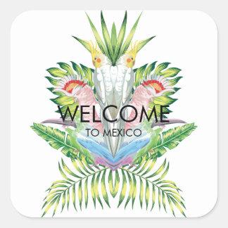 Birds of Paradise Wedding Welcome Sticker